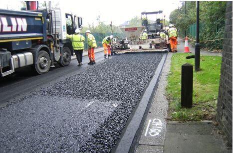 Asphalt, bitumen road mark